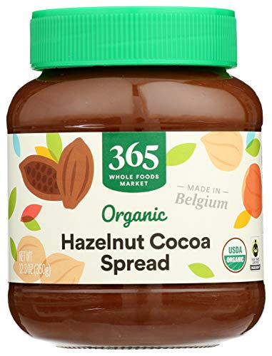 365 by Whole Foods Market, Organic Nut Butter Spread, Hazelnut Cocoa, 12.3 Ounce