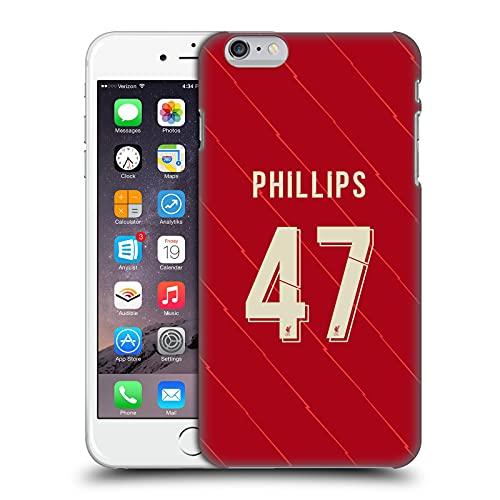 Head Case Designs Licenza Ufficiale Liverpool Football Club Nathaniel Philips 2021/22 Giocatori Home Kit Gruppo 2 Cover Dura per Parte Posteriore Compatibile con Apple iPhone 6 Plus/iPhone 6s Plus