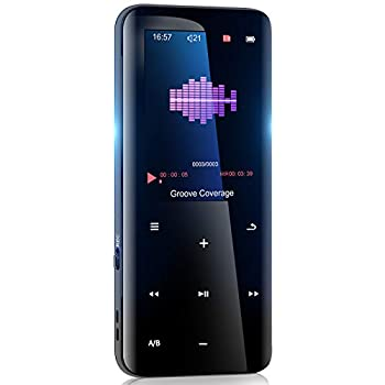 32GB Mp3 Player with Bluetooth 5.0 - Portable Digital Lossless Music Player for Walking Running,Super Light Metal Shell Touch Buttons with TF Card Expansion