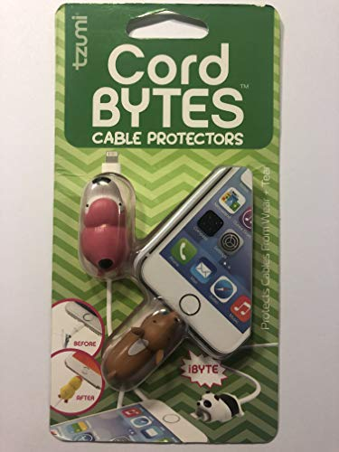 Tzumi Bytes Animals Charging Cable Protectors for iPhone and iPad