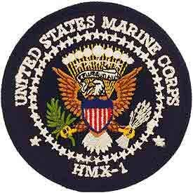 USMC, United States Marine Corps HMX-1 - Embroidered Novelty Patches, Iron On Patch - 3""