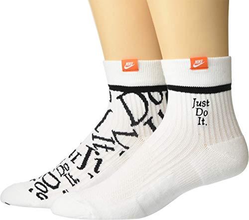 Nike Sportswear Just Do It Sneakers Ankle Socks 2pk SK0101-100 White (Large)