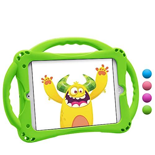 TopEsct Funda para iPad Mini Niños Shock Proof Material Silicona Lightweight Kids Protector Cover Case con Manija para Apple iPad Mini5 / Mini4 / Mini3 / Mini2 / Mini1 7.9 Pulgadas Tableta (Verde)