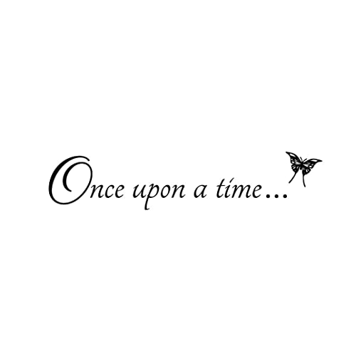 Newclew Once Upon A Time Vinyl Wall Art Fairy Tale Love Family Husband Wife Our