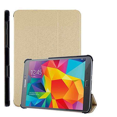 COOVY Funda Ultra Delgada para Samsung Galaxy Tab S2 8.0 SM-T710 SM-T713 SM-T715 Carcasa Protectora Inteligente con Sistemas de Soporte y Auto-sueño/Estela | Oro