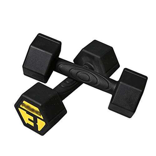 rubberized dumbbells YHYH Dumbbells Fitness Dumbbell Set,Hexagonal Steel Dumbbell Pair with Rubberized Shell,Lifting Dumbells for Body Workout Home Gym Black Training Gift (Size : 3KG×2/6.6LB×2)
