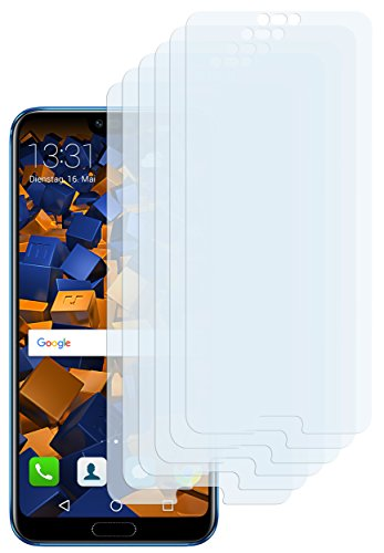 mumbi Schutzfolie kompatibel mit Huawei Honor 10 Folie klar, Bildschirmschutzfolie (6X)