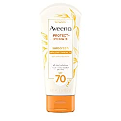 Aveeno Protect + Hydrate Moisturizing Sunscreen Lotion with Broad Spectrum SPF 70 & Antioxidant Oat,