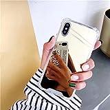 LIUYAWEI Estuche de Lujo para teléfono con Espejo para Samsung Galaxy A71 A70 A50 A40 A30 A20 2018 S8 S9 S10 Plus S10e J4 J6 J8 A6 A8 Plus Cubierta Trasera Suave, Dorado, para Samsung S20E