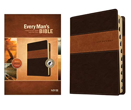 Compare Textbook Prices for Every Man's Bible NIV, Deluxe Heritage Edition, TuTone LeatherLike, Brown/Tan, Indexed – Study Bible for Men with Study Notes, Book Introductions, and 44 Charts Deluxe, Indexed, Thumbed Edition ISBN 9781496433558 by Arterburn, Stephen,Merrill, Dean