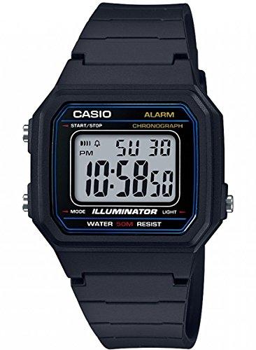 Casio Reloj Digital para Hombre de Cuarzo con Correa en Resina W-217H-1AVEF