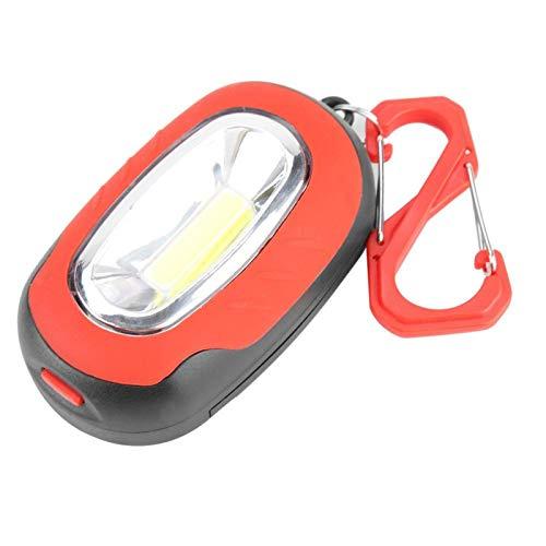 Wosune Linterna para Acampar, Lámpara para Acampar, Rojo/Azul/Verde/Amarillo Lámpara de Llavero Equipo de Ciclismo Accesorio para Ciclismo Nocturno Actividades al Aire Libre o emergencias(Red)