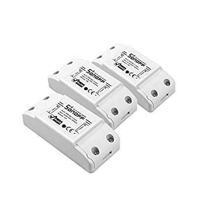 SONOFF Basic R2 10A Smart WiFi Wireless Light Switch, Universal DIY Module for Smart Home Automation Solution, Compatible with Alexa & Google Home Assistant, Compatible with IFTTT (3 Pack)