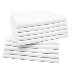 Zollner 10 muselinas para bebé, algodón 100%, 80×80 cm, blancas