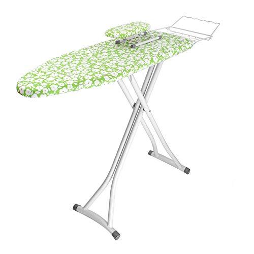 XiuHUa Strijkplank, huishoudelijke strijkplank opvouwbaar strijkplank rek verdikking strijkplank rek met mouwen, groen Strijkplank