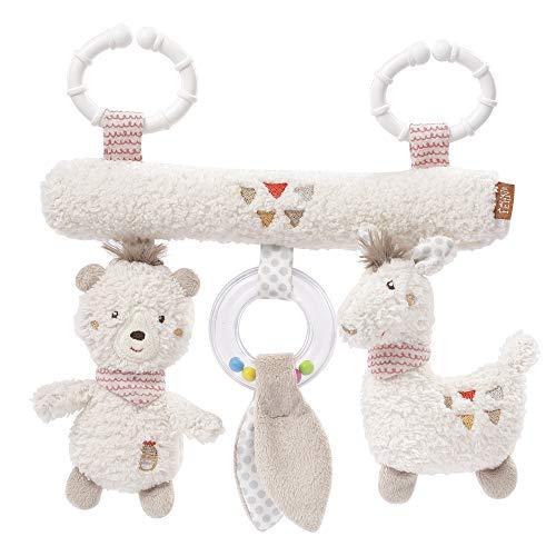 Fehn 058031 Activity-Trapez Peru – Spielzeug zum Aufhängen für Babys und Kleinkinder ab 0+ Monaten – Fördert Tastsinn & Feinmotorik – Maße: 22 cm