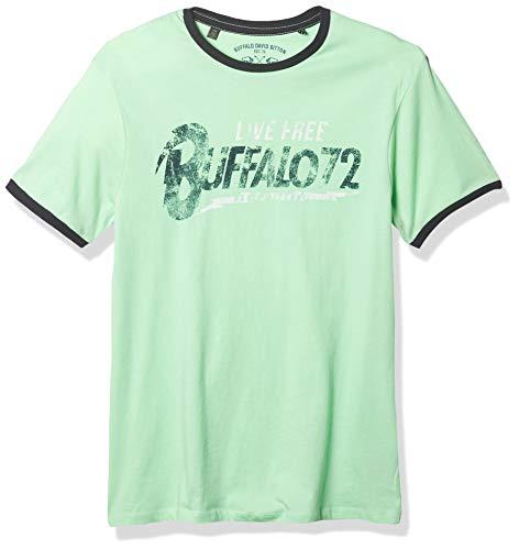 Buffalo David Bitton Herren Talon BM21773 Hemlock T-Shirt, X-Groß