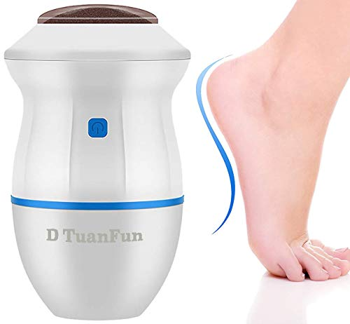 Electric pedicure foot file callus remover- Portable Vacuum Adsorption Foot Grinder Best Pedicure Tools Double head Professional Feet Care Sander for Cracked Heels and Hard Skin