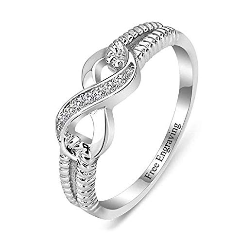 Lam Hub Fong Personalized Infinity Friendship Rings BFF Rings for Women Sisters Rings Name Rings Promise Rings for Her Valentines Day Jewelry for Women (7)