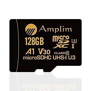 128GB Micro SD SDXC Memory Card Plus Adapter Pack (Class 10 U3 UHS-I V30 A1 MicroSD XC Extreme Pro) Amplim 128 GB Ultra High Speed 667X 100MB/s UHS-1 TF MicroSDXC 4K Flash - Cell Phone, Drone, Camera