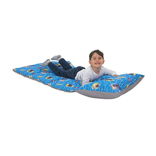 Disney Puppy Dog Pals - Blue, Grey, Yellow & Red Deluxe Easy Fold Toddler Nap Mat