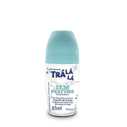 Desodorante Roll-On sem Perfume, Trá Lá Lá, Branco, 65 ml