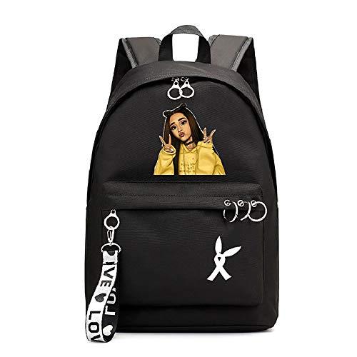 BGSSBP Ariana Grande Rucksack Student Schultasche Laptop Rucksack Reisen Canvas Taschen,Black5,44x30x16cm