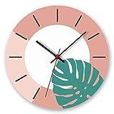 JUNDY Relojes de La Pared para Cocina, hogar, Sala Estar, Oficina diá (NO batería) Nordic Greenwatch Clock 2 12 Pulgadas