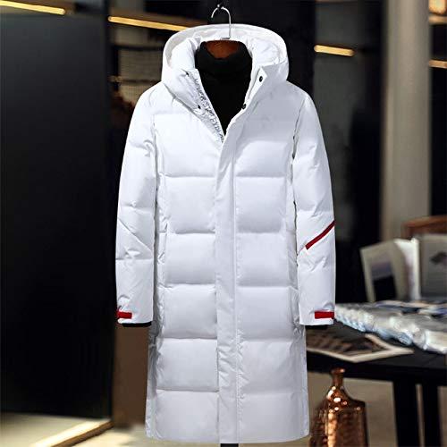 LFDJNZ Neue Winter Herren Daunenjacke Mode Jacken Männliche Oberbekleidung Kleidung Weißer Mantel Männer Parkas 4XL XXL Weiß
