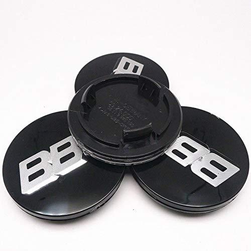 Tapas centrales para Llantas 4pcs 70mm Compatible con BBS RM RZ RG RS RIZ Rims CUBIERTE CUBIERTE Cover Emblem Cap con Base Ornamental para Tapacubo (Color : D)