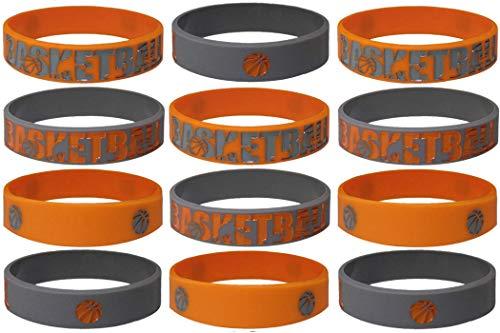20 pcs Basketball Wristband Party Favors Basketball Summer Camp, Goodie Bags, Halloween Treats, Sports Camp (Basketball, Kids)