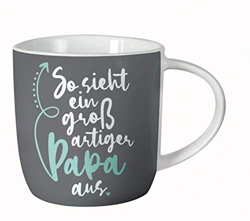 Grafik Werkstatt Kaffee-Tasse fürs Büro| 300 ml | Porzellan Tasse zum verschenken | Großartiger Papa