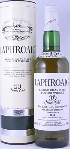 Laphroaig 10 Years Vintage 1980s Islay Single Malt Scotch Whisky 43,0% Vol. - ein grandioser und seltener Old Style Laphroaig Pre Warrant German Import!
