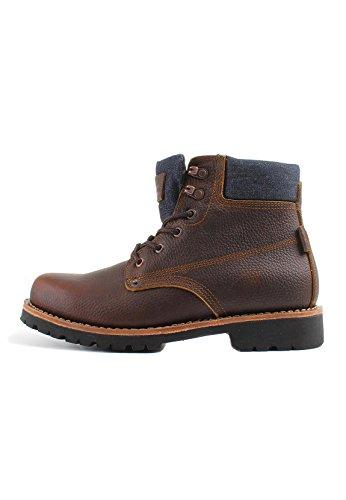Levis Zapatos Hombre Jackson Botines, Botas, Cuero y Jeans - Marrón Oscuro: : 9 UK