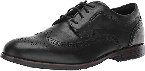 Rockport Men's Dustyn Wing Tip Shoe, black, 6.5 W US