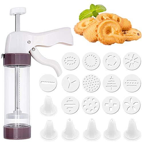 Herramienta para Hacer Pasteles de Galletas, Máquina para Hacer Galletas para Hornear de Bricolaje,13 formas de galleta y 6 bocas decorativas