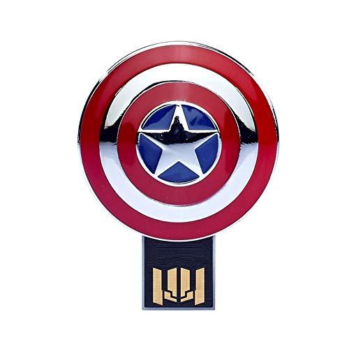 Memorias USB Flash Drive Anime Vengadores superhéroe 4/8/16/32/64 / 128GB Marvel Superhero Series (8GB, Captain America's Shield)