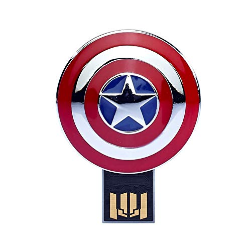 Memorias USB Flash Drive Anime Vengadores superhéroe 4/8/16/32/64 / 128GB Marvel Superhero Series (8GB, Captain America's Shield)