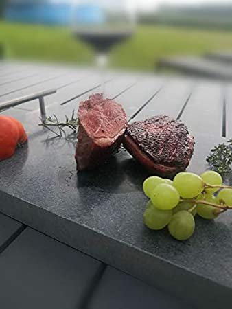 FLAM - Piedra para cocinar esteatita – Piedra para asar olar – Piedra para plancha – 28 x 23,5 x 2 cm