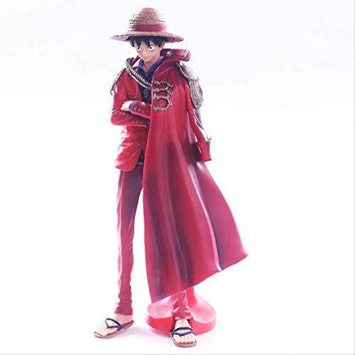 Missyou Figura De Una PiezaLuffyAniversarioPVCFigura De Acción Capa Roja The Ultimate KingLuffy25Cm, Muñeca De Juguete Modelo Coleccionable