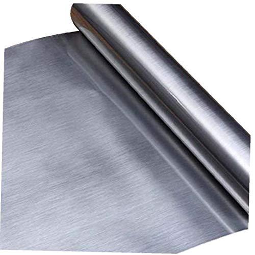 Rrunzfon Rollo de Papel Pintado Auto-Adhesivo de Palo en Papel Adhesivo de Contacto de Plata Desmontable para una encimera de Muebles 60x300cm