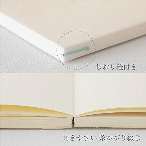 『デザインフィル ミドリ ノート MDノート A5 ジャーナル ドット方眼 15259006』の6枚目の画像
