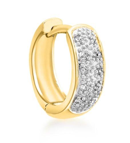 Boucles d'oreille - 1.58.996G - Pendientes de hombre de oro amarillo (9k) con diamantes