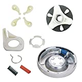 Siwdoy 285785 Washer Clutch Kit, 285753A Motor Coupling Kit and 4 pcs 80040 Washer Agitator Dog Compatible with Whirlpool Washer 285331, 3351342, 3946794, 3951311, AP3094537