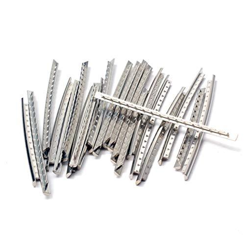 SUPVOX 24 piezas de acero inoxidable guitarra eléctrica acústica traste cable 24...