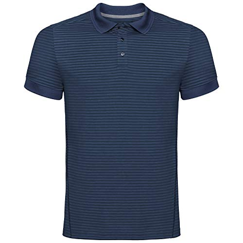 Odlo Polo Shirt s/s Nikko Dry Polo Homme Diving Navy - Ensign Blue Stripes FR : S (Taille Fabricant : S)
