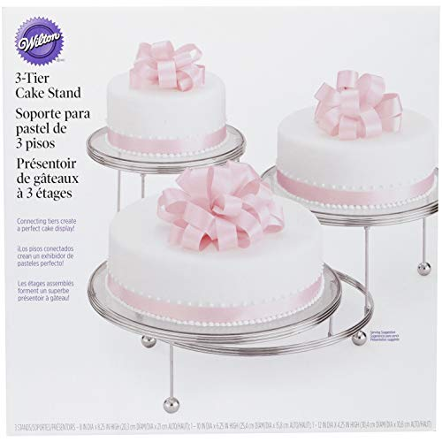 Wilton Cakes 'N More 3-Tier Cake Stand, Silver