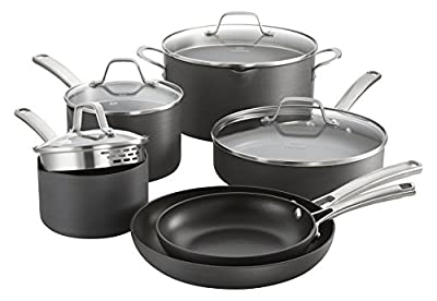 Calphalon Classic Nonstick Cookware Set, 10-piece, Grey (1945597)