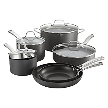 Calphalon Classic Nonstick Cookware Set, 10-piece, Grey (1945597)
