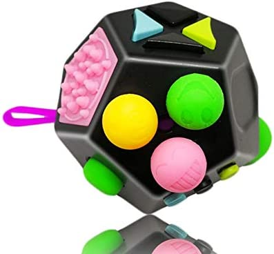 Fidget Toy Adults Premium Quality Fidget Cube 12 Sides Dodecagon for Kids Stress and Anxiety product image
